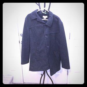 J. Crew Asymmetrical Wool Pea Coat